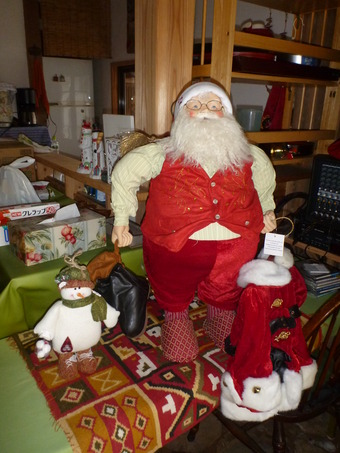 都祁は寒し、しかしサロンはクリスマスの装い